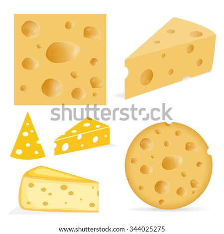 Cheese with holes - stock vector