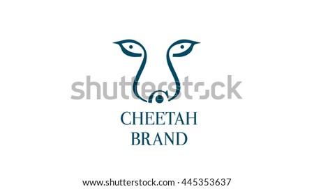 Cheetah Vector Logo Template Stock Vector 445353637 - Shutterstock