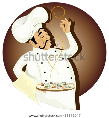 chef (also available jpg version) - stock vector