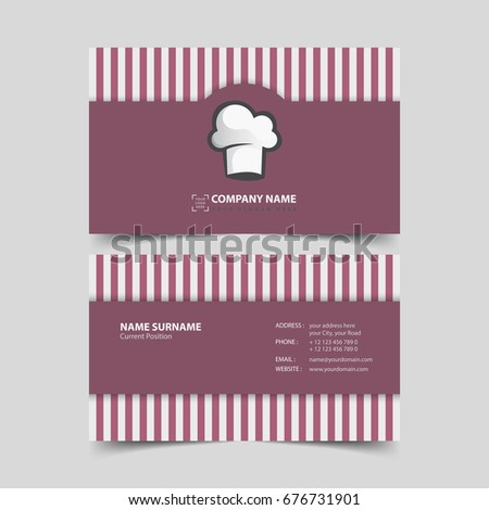 Chef business card design template stock vector royalty free chef business card design template colourmoves