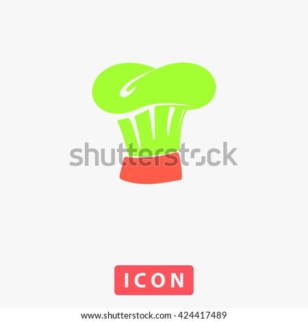 Chef cap Icon Vector.  - stock vector