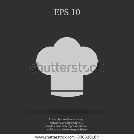 Chef cap  vector icon. Flat design style eps 10