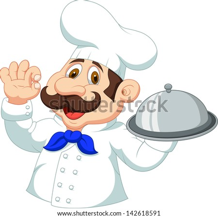 Chef cartoon with ok sign - stock vector