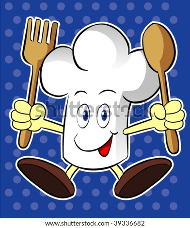 chef character - stock vector