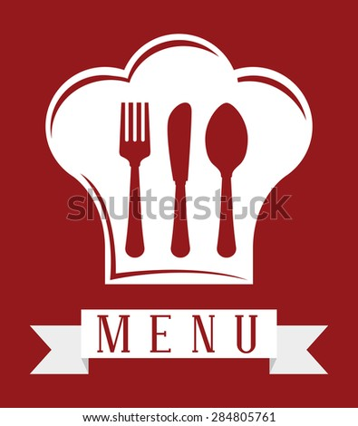 Chef design over red background, vector illustration. - stock vector