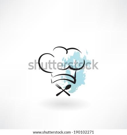 chef hat icon - stock vector