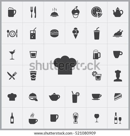 chef hat icon. cafe icons universal set for web and mobile