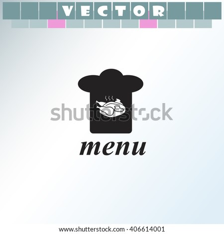 Chef hat icon. Chef hat vector. Simple icon isolated on light background. - stock vector