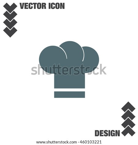 Chef Hat vector icon. Cooking head wear sign. Restaurant symbol.
