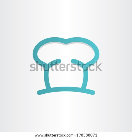 chef icon cooking hat - stock vector