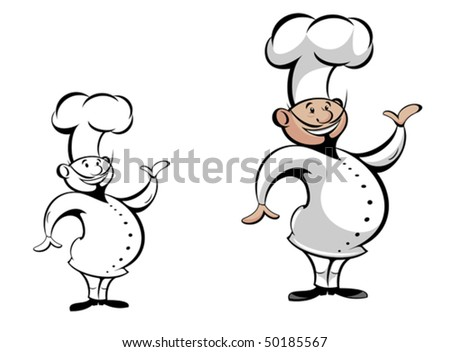 Chef in uniform isolated on white as a concept of healthy food or logo template. Jpeg version also available