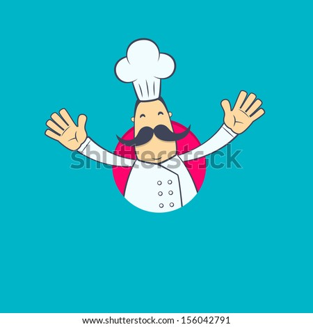 chef in various poses for use in advertising, presentations, brochures, blogs, documents and forms, etc. - stock vector