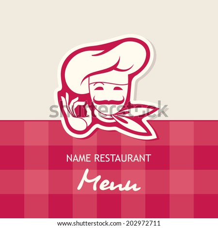 chef menu design - stock vector