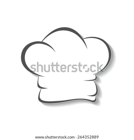 Chef's hat icon, isolated graphical symbol.  - stock vector