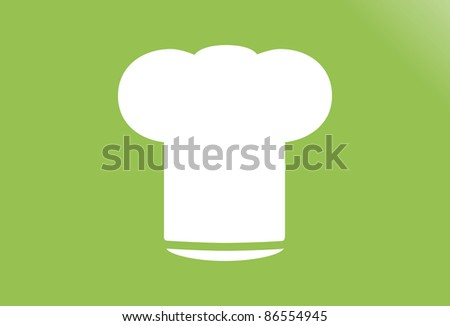 Chef's Hat Vector Symbol Icon - stock vector