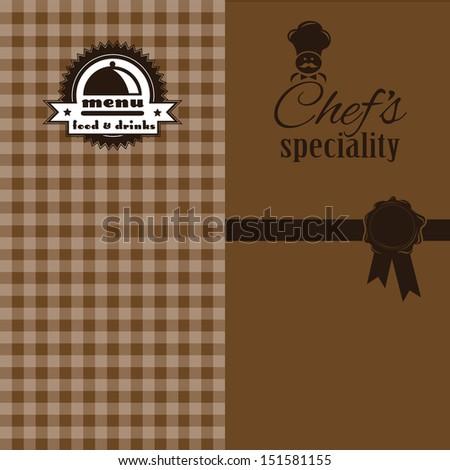 Chef's Specials Menu Design - stock vector