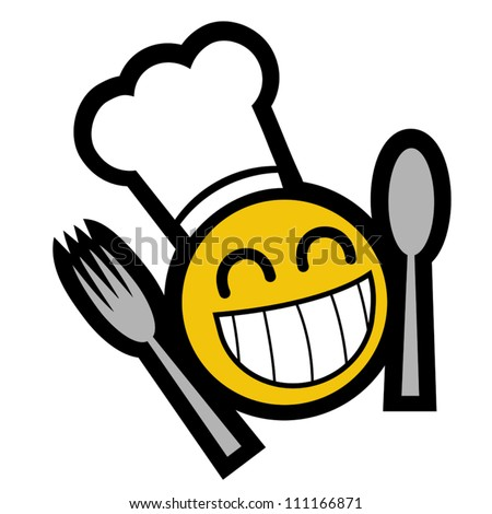 Chef smile face kid symbol - stock vector