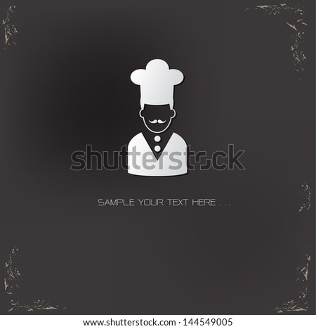 Chef symbol,vector - stock vector