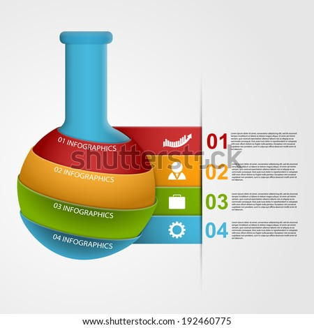 Chemical and science infographic design template - stock vector