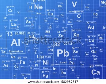 Chemical elements background illustration on blueprint stock photo chemical elements background illustration on blueprint malvernweather Choice Image