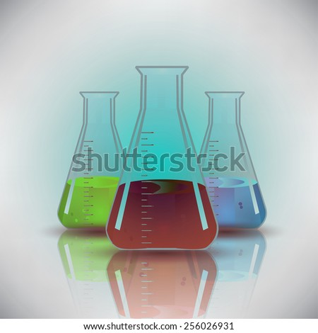 Chemical Flask background vector - stock vector