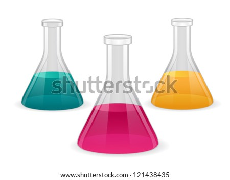 Chemical Flask. Eps 10 file. - stock vector