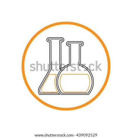 chemical flask or bulb. Laboratory glass.