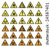 Chemical hazard signs vector illustration - stock vector