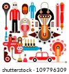 Chemical industry - vector illustration on white background. - stock vector