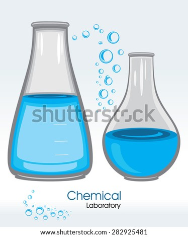 Chemical laboratory. Label. Vector
