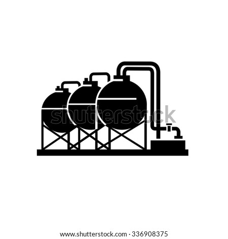 Chemical plant icon - stock vector