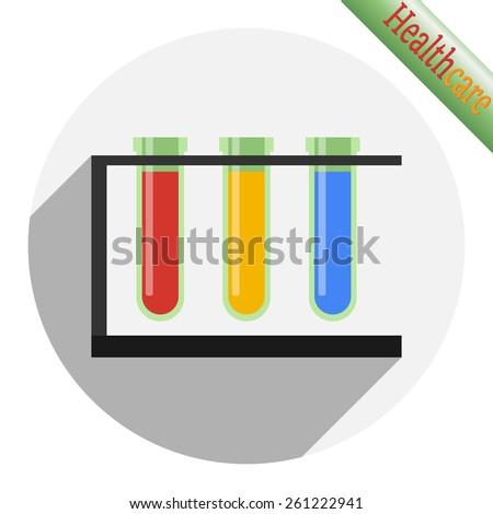 Chemical test tubes. Vector illustration - stock vector