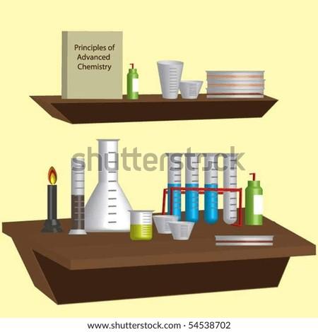 Chemist's Workstation - stock vector