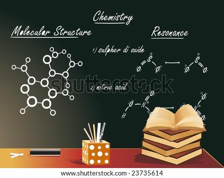 chemistry class vector illustration - stock vector