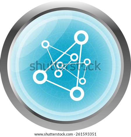chemistry icon (button) isolated on white background - stock vector