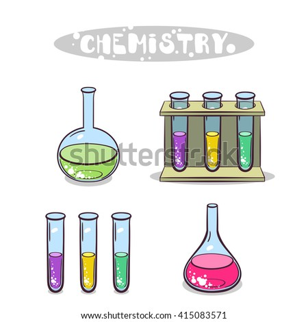 Chemistry Isolated On White - stock vector