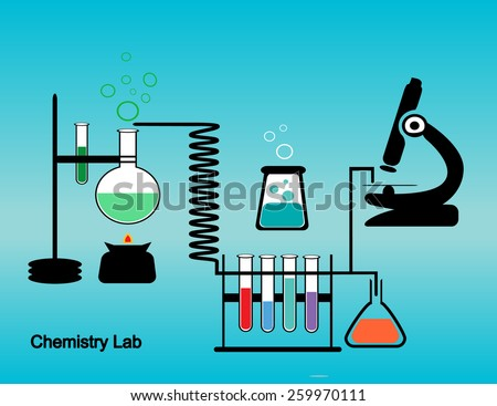 Chemistry lab concept vector design  Eps 10 file is included - stock vector