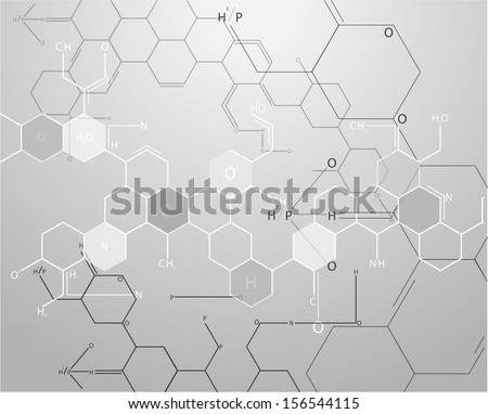 Chemistry science formula on book vector - stock vector