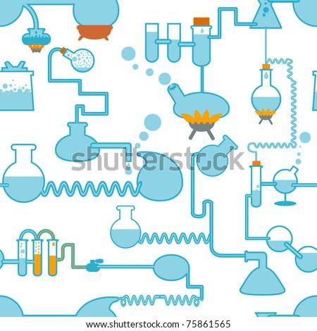 chemistry symbol seamless - stock vector