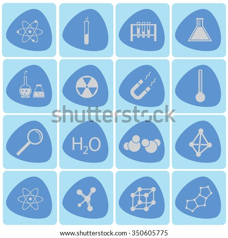 Chemistry vector icon set - stock vector