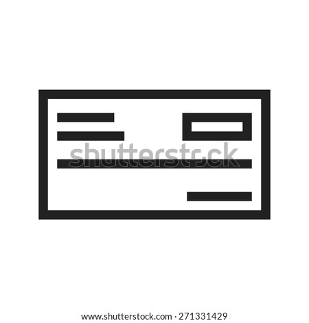 Cheque, draft, receipt icon vector image. Can also be used for banking, finance, business. Suitable for web apps, mobile apps and print media. - stock vector