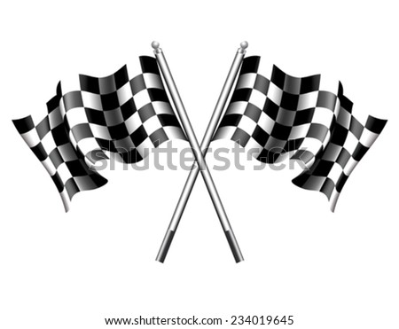 Chequered Flags Motor Racing - stock vector