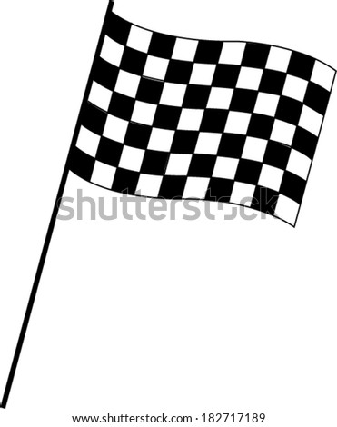 Chequered Racing Flag - stock vector
