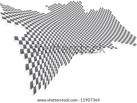 Chequered Vector - stock vector