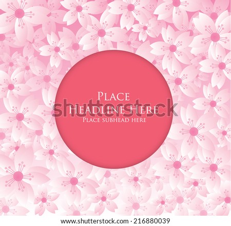 cherry blossom background template vector/illustration