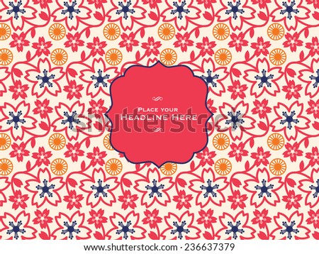 cherry blossom background template vector/illustration - stock vector