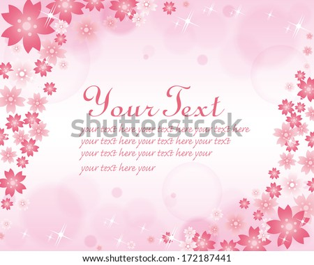 Cherry blossoms background Vector - stock vector