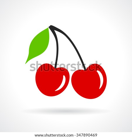 Cherry vector icon - stock vector