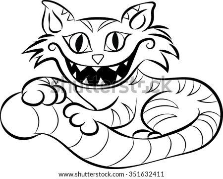 cheshire cat clip art vector illustration