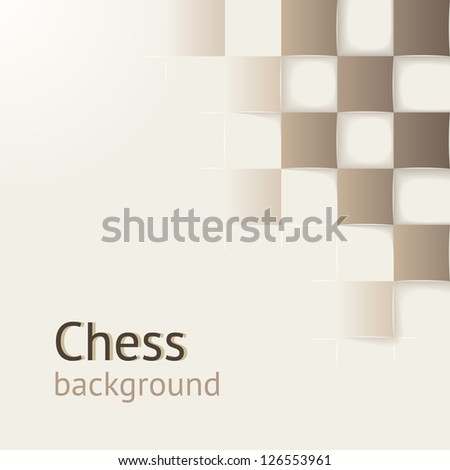 Chess background with drop shadows. Vector concept. Design template for your presentation, brochure and etc. - stock vector